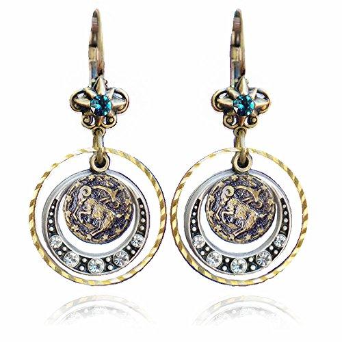 Capricorn Earrings, Zodiac Jewelry, Capricorn Jewelry, Zodiac Earrings, Astrology Jewelry, Birthday Earrings, Birthday Donation, Zodiac Sign, Horoscope Jewelry
