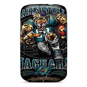 Scratch Resistant Hard Cell-phone Case For Samsung Galaxy S3 (HkM22154ltGR) Unique Design Attractive Jacksonville Jaguars Skin