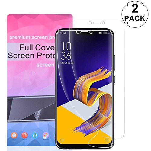 Asus Zenfone 5z ZS620KL Screen Protector (NOT GLASS), [2 PACK] KTtwo Full Coverage HD Clear TPU Film Cover Curved Edge Screen Protector for Asus Zenfone 5z ZS620KL 6.2 Inch Smartphone Anti-Bubble Film