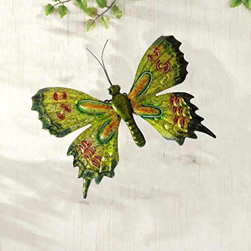 Trio Art Butterfly (starbluegarden Collapsible Metal Butterfly Wall Decor Wall Art Trio, Hang Indoors or Outdoors Garden Decor)