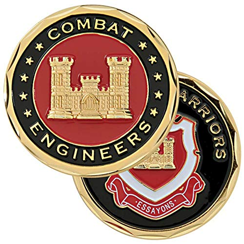Medals of America Engineer Warrior Challenge Coin Red
