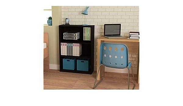Amazon.com: Ameriwood 3-shelf Bookcase, Multiple Finishes (Black): Kitchen  u0026 Dining
