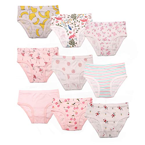 (Seekay Girls' Toddler Cotton Bikini Underwear Cute Assorted Panties (Pack of 9) 2-3 Years)