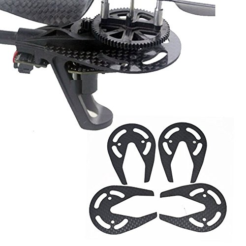 WOOCON 4pcs Carbon Fiber RC Motor Protector Bearing Ring Set for Parrot AR Drone 1.0 & 2.0 Quadcopter Accessoires
