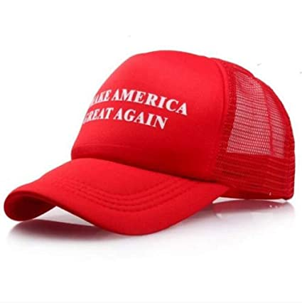 7c2c42b4932 Image Unavailable. Image not available for. Color  Make America Great Again  Donald Trump New Hat Red White mesh snap Back USA MAGA