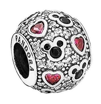921b14f45 Pandora Silver Bead Sparkling Mickey Hearts Disney Cz Charm 791457cz by  Pandora