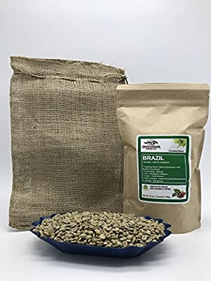BRAZIL NATURAL Specialty-Grade, CURRENT-CROP Green Unroasted Coffee Beans – This Natural Process Bean is Extremely Popular with Espresso Aficionados as Base in Blends