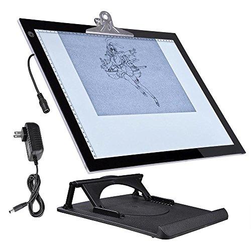 "19"" LED Artist Stencil Board Tattoo Drafting Drawing Tracing Table Display Light Box Pad"