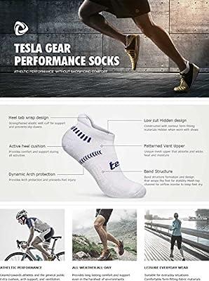 Tesla 6-Pairs Atheltic Socks Comfort w Mesh MZS04/MZS05/MZS06/MZS07