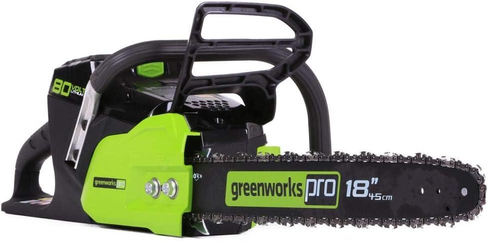 Greenworks - Motosierra inalámbrica (80 V, sin escobillas)