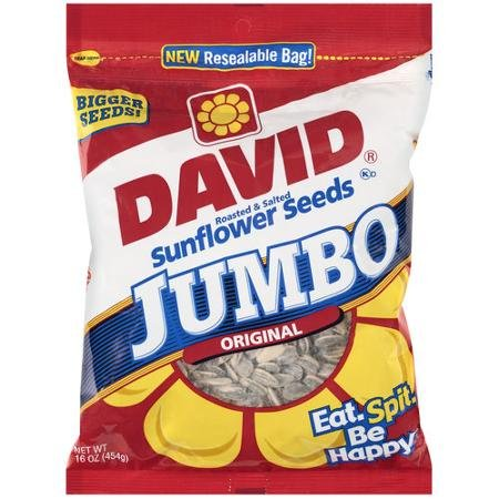 David Sunflower Seed In Shell - Jumbo, 16 Ounce (2 Pack)