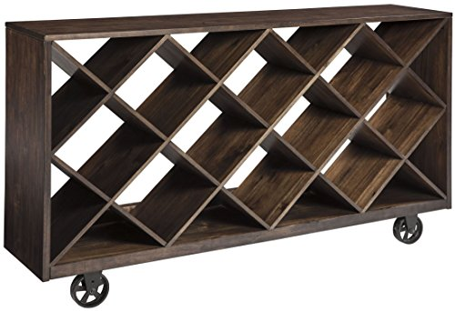 Ashley Furniture Signature Design - Starmore Shelf & Console Table - Rustic Contemporary Bookshelf - Brown - Mission Sideboard