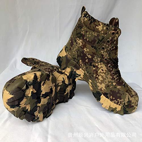 HCBYJ Schuhe Camouflage Baumwolle Schuhe hohe Größe Camouflage Baumwolle Schuhe Winter kalte warme Stiefel Feld Verdickung Taktik