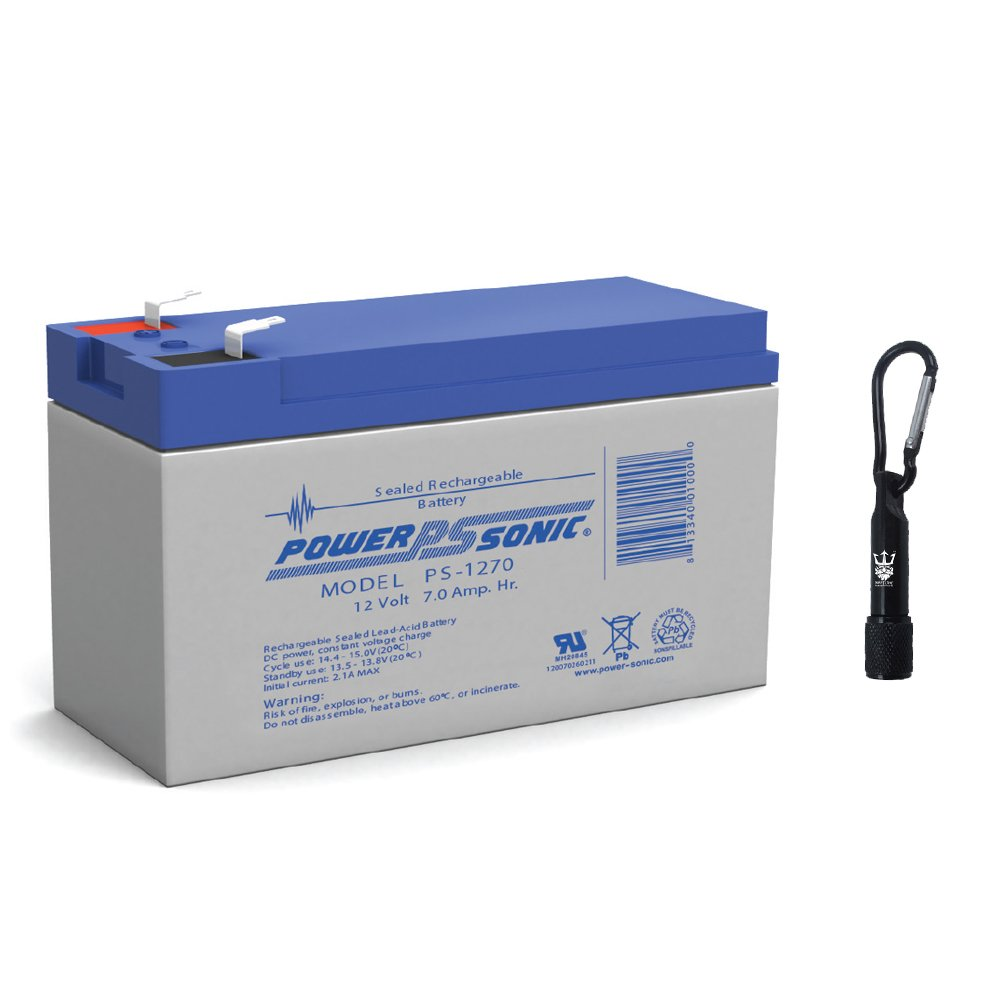 Sealed Lead Acid Battery 12V 7.0AH 350mA FASTON 0.250''x0.032''