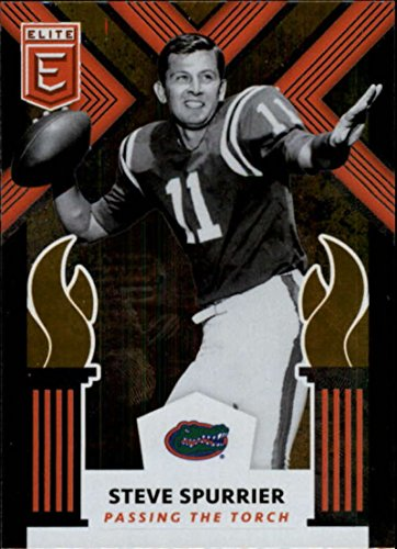 (2018 Panini Elite Draft Picks Passing the Torch #10 Gary Beban/Steve Spurrier Florida Gators/UCLA Bruins )