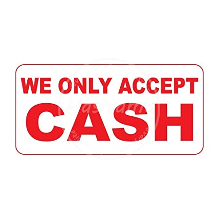 Shunry We Only Accept Cash Placa Cartel Vintage Estaño Signo ...