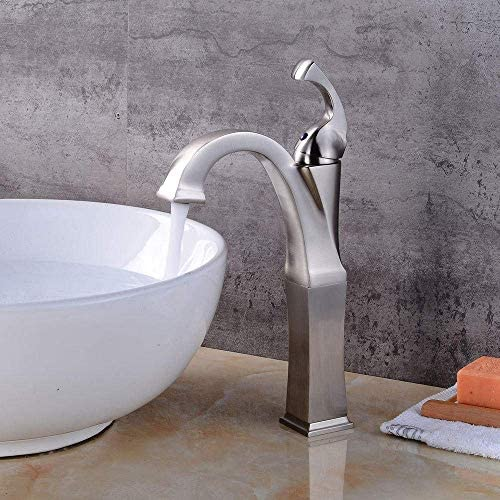 Gulakey バスルームのシンクは、スロット付き浴室の洗面台のシンクホットコールドタップミキサー流域の真鍮シンクミキサータップヨーロッパブラッシュカウンター盆地の蛇口ホットとコールド流域の蛇口の浴室のレトロシンクの蛇口をタップ