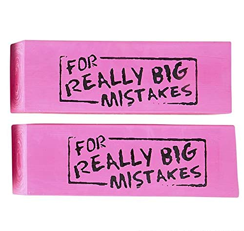 Rhode Island Novelty Jumbo for Real Big Mistakes Erasers | One -
