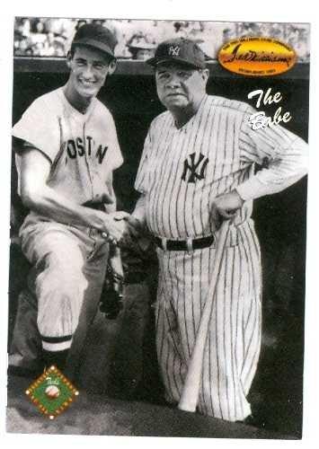 iams 1993 Ted Williams baseball card #121 New York Yankees & Boston Red Sox ()