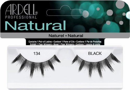 Ardell - Fashion Lashes #134, Black - Sterilized,100% Human Hair (Pack of 4)