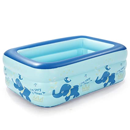 Amazon.com: Piscina hinchable cuadrada de dibujos animados ...