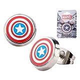 Captain America Shield Round Stud Earrings