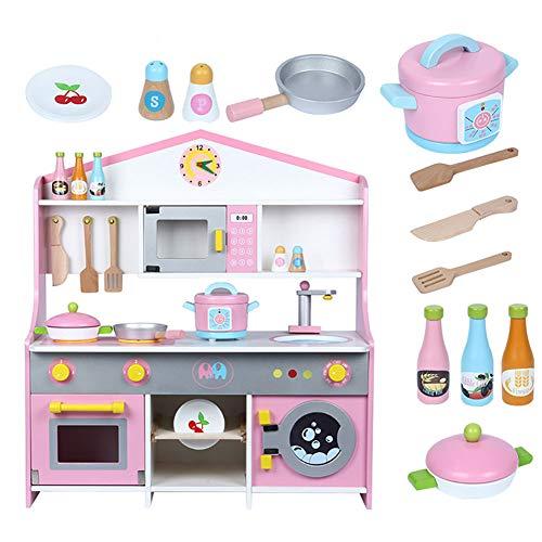 WDXIN Juguete de casa Juegos niños Educativo La Cocina Estufa Muñeca de Madera niña niño Juego Juego de Juguete para...