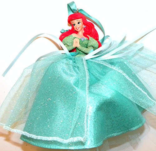 Disneyland Disney World WDW Parks Set All 8 2014 Princess Doll Evening Tuile Gown Dress Ariel Belle Jasmine Snow White Aurora Rapunzel Tiana Cinderella Holiday Ornaments Figurines by Disney (Image #6)