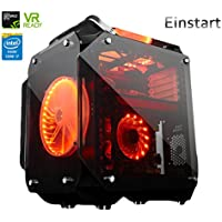 Einstart Gamer VR Ready Desktop Gaming PC (Gen 7th Quad Core Intel i7-7700 3.6GHz Turbo 4.2GHz, NVIDIA GTX 1070 8GB DDR5, 16GB DDR4 RAM, 240GB SSD, Win 10 Pro 64-bit), Black (Seller Upgraded)