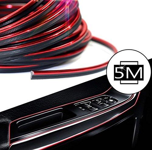 flexible 101814 Embellecedor rojo/de 5/metros con brillos met/álicos y moldura interior decorativa para autom/óvil de Inion/® Trim Strip Molding