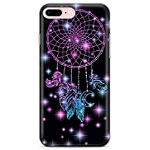 iPhone 7 Plus Case, iPhone 8 Plus Case, Midnight Dream Catcher Phone Case by Casechimp® | Clear Ultra Thin Lightweight Gel Silicon TPU Protective Cover | Lotus Dream Catcher Dormeo Teepee Love