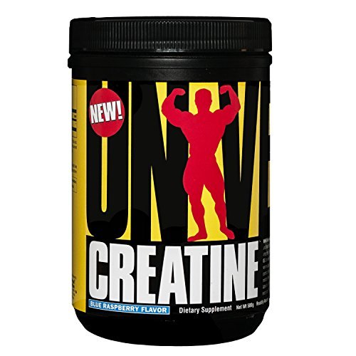 Universal Nutrition 100% Pure Flavored Creapure Creatine Monohydrate Powder, Blue Raspberry, 500 Gram ()