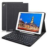 TOPLIFE iPad Keyboard Case 9.7 for iPad 2018 (6th Gen) - iPad 2017 (5th Gen) - iPad Air 2 Air - Ultra-Thin Slim Detachable Protective Cover with Pencil Holder (Black)