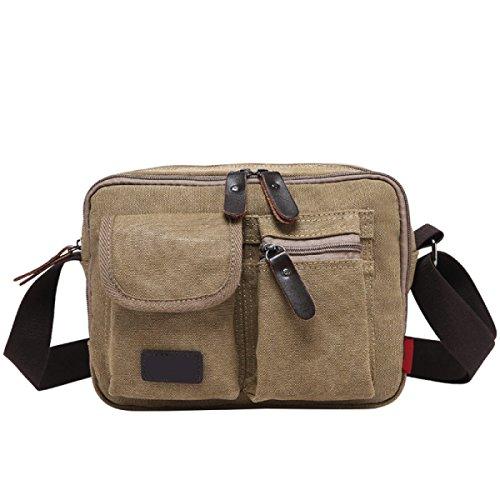 Männer Und Frauen Vintage-Leinwand Messenger Ipad Schulter Tote Seite Sport Tasche,A-26cm*10cm*20cm