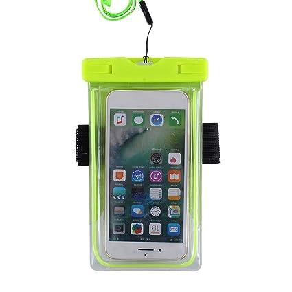 e430513db66 Cubierta transparente universal impermeable de la bolsa impermeable del PVC  para el teléfono móvil de 5.5 pulgadas con la función de la pantalla táctil  ...
