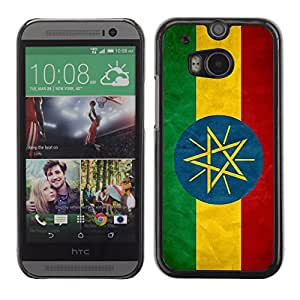 Graphic4You Vintage Ethiopian Flag of Ethiopia Design Hard Case Cover for HTC One (M8)