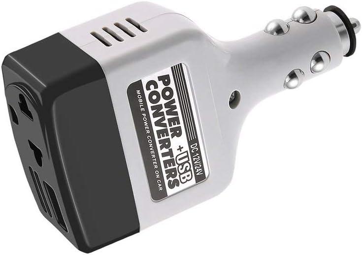Mouchao4762 DC 12//24 V to AC 220 V Car Power Inverter Adapter Car Charger Converter black /& white