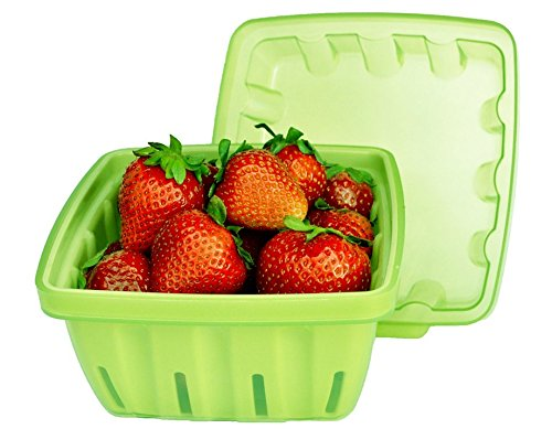 Kitchenbasics Green Berry Bowl with Strainer and Lid - 3 Piece Set by Kitchenbasics