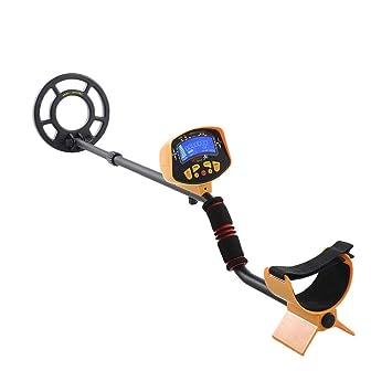 Su-luoyu Detector de Metales Profesional de Alta sensibilidad Detector de Metales subterráneo Impermeable Gem Hunting Treasure Search Monitor LCD para ...