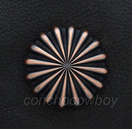 WESTERN HORSE  SADDLE TACK COPPER COLOR PARACHUTE CONCHO 1 inch screw back