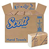 Scott Multifold Paper Towels (01804) with Fast-Drying Absorbency Pockets, White, 16 Packs/Case, 250 Multifold Towels/Pack
