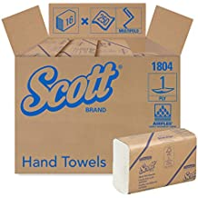 Scott Essential Multifold Paper Towels (01804) with Fast-Drying Absorbency Pockets, White, 16 Packs