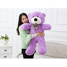 MorisMos Teddy Bears Plush Toys Dolls Purple Teddy Bear Christmas Birthday Gifts 100CM