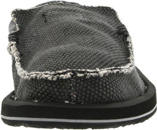 Sanuk Chiba 29418019 - Mocasines de tela para hombre Negro (Schwarz/Black)