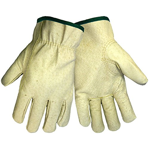 Global Glove 3200P Pig Grain Skin Leather Standard Grade Driver Glove, Work, Medium (Case of 72) -