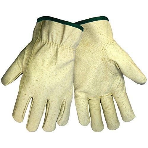 Global Glove 3200P Pig Grain Skin Leather Standard Grade Driver Glove, Work, Extra Large (Case of 72) ()