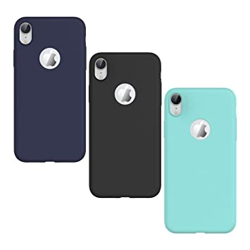KOTPARX Funda para iPhone XR, Carcasa Silicona Gel Mate Case Ultra Fina Delgado TPU Goma Flexible Bumper Shock Protección Anti-Arañazos Cover [3 Pack] ...