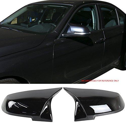 (Pre-Painted Mirror Cover Fits BMW 2009-2018 E84 F20 F21 F22 F23 F30 F31 F32 F33 F34 F36 F87 I01 | #475 Black Sapphire Metallic Side Rear View Mirror Cover Trim by IKON MOTORSPORTS)