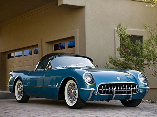 Top Chevy Bubble (Mostly Art Stuff 1954 CHEVROLET CORVETTE CONVERTIBLE Bubble Top Picture on Mouse Pad Classic Vintage Old Cars Hot Rods Speed Computer Dessktop Supplies)