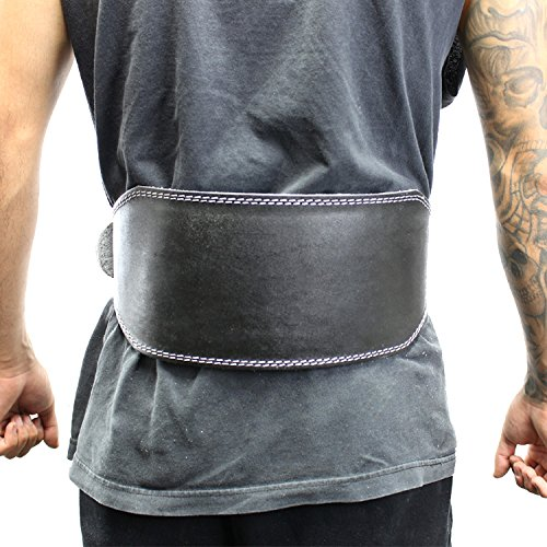"""Last Punch 6"""" Fitness Split Leather Weight Lifting Belt Padded Black Good Quality all Sizes"""